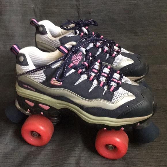 Skechers NavyPink 4 Wheelers Roller Skates 8